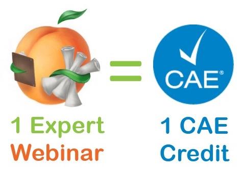 1 expert webinar = 1 CAE credit