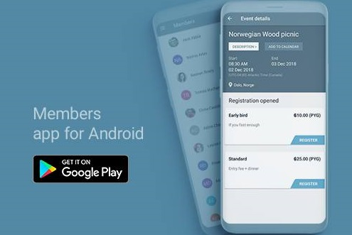 Mobile app for members