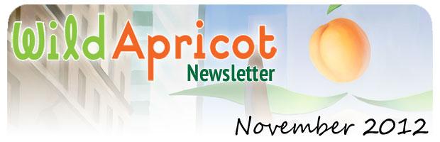 Wild Apricot Newsletter November 2012
