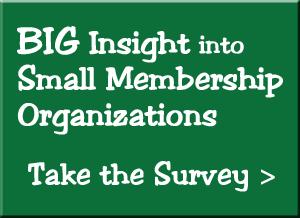 BIG Insight into Small Membership Organizations - Take the Survey >>