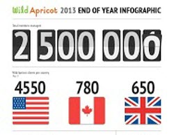 Wild Apricot End of Year Infographic